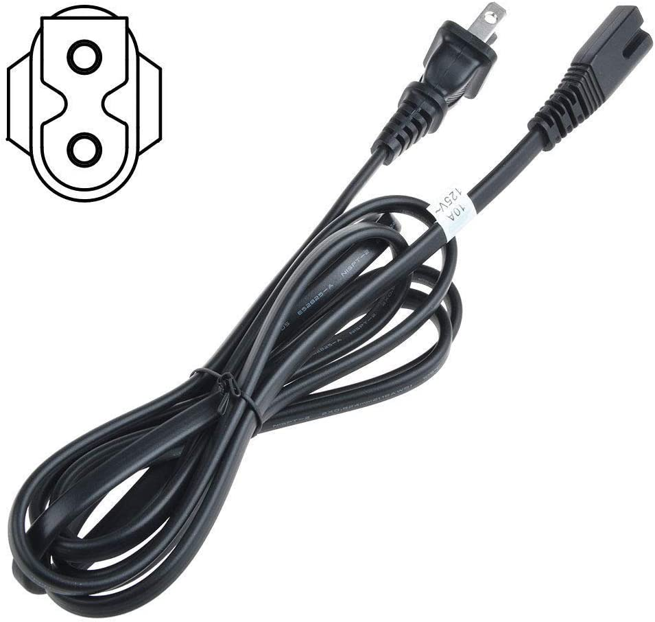 Polarized AC Power Cord for Sharp LC-C4067U LC-C4677UN LC-C5277UN TU-GA1U-S LC-26GA5U LC-26GA5 LCD HDTV Smart TV 6 FT