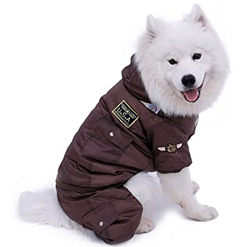 YHUISEN Ropa para mascotas invierno cálido grueso perro ropa de mascota abrigo caliente chaqueta acolchada sudadera