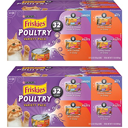 .Purina Friskies. Poultry Variety Pack Cat Food – (32) Box, 2-Pack