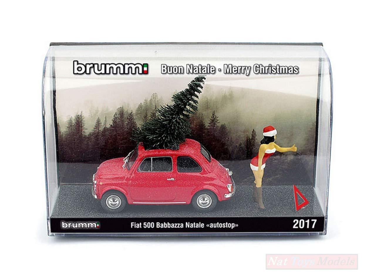 BRUMM BMS1735A FIAT 500F BABBAZZA NATALE AUTOSTOP 2017 (MORA) 1 43 DIE CAST