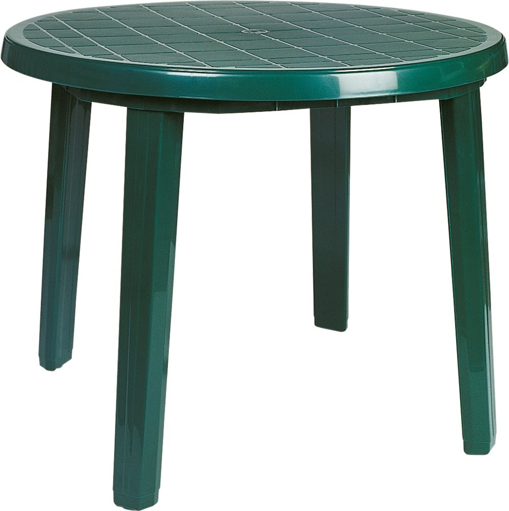 Compamia Ronda Resin Round Dining Table in Green