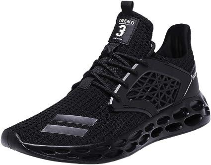 Homme Chaussure de Sport en Plein Air Overmal Baskets Mode Casual Respirantes Poids l/éger Comfortable Mesh Upper Semelle Souple Lacets Running Shoe Sneakers