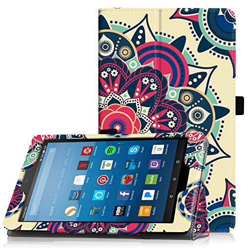 Sunflower Ports (Famavala Folio Case Cover with Auto Wake/Sleep Feature for 8