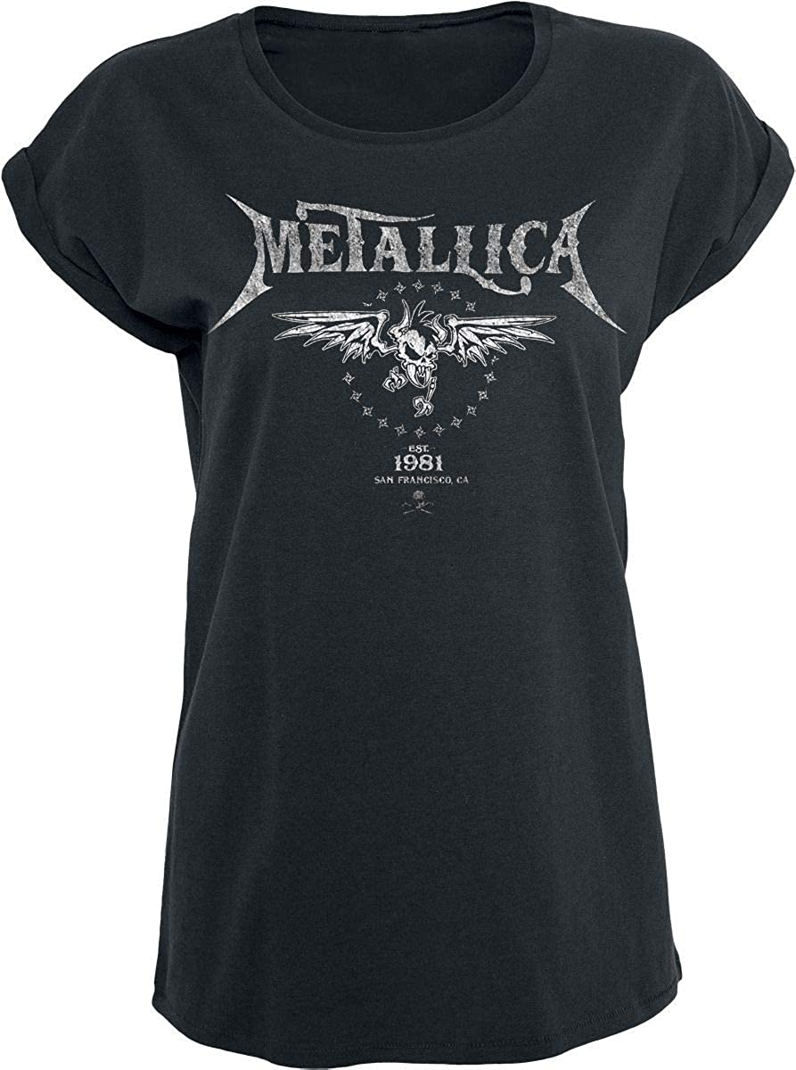 TALLA S. Metallica Biker Camiseta Negro