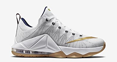 new style 40bc4 767da Nike Lebron 12 Low (USA) White/Navy-Gum-Red (11): Buy Online ...