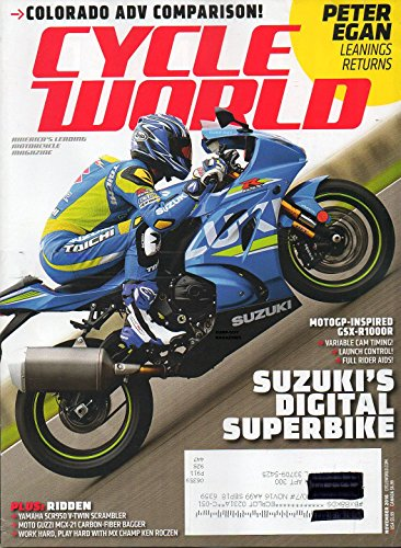 Cycle World 2016 America's Leading Motorcycle Magazine PETER EGAN LEANINGS RETURNS Colorado ADV Comparison SUZUKI'S DIGITAL ()