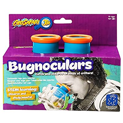 Educational Insights GeoSafari Jr. Bugnoculars, Bug Container To Catch & Observe, Outdoor Play For Ages 3+: Toys & Games