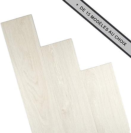 Gris clair - 4m2 ANTEVIA/® Lames de sol adh/ésives 4m2 PVC Rev/êtement adh/ésif