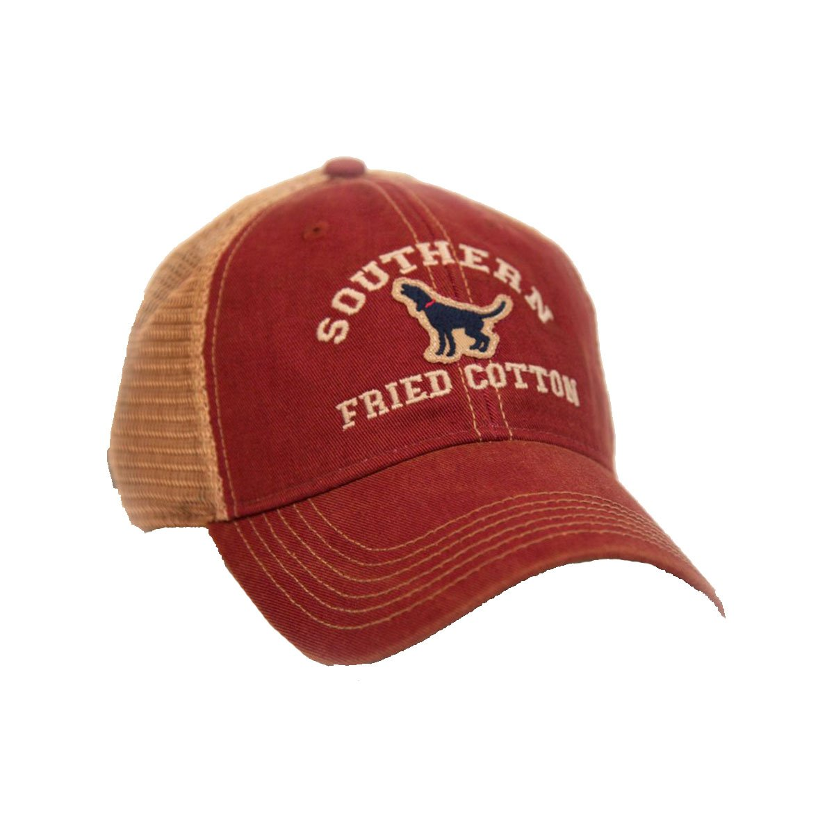 Southern Fried Cotton The Howler Trucker Hat-Cardinal