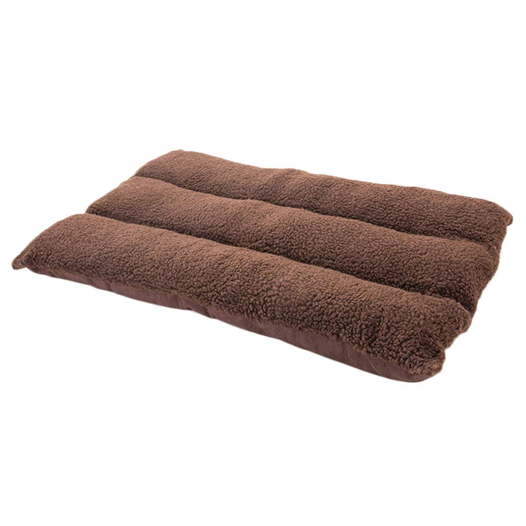 Coffee MGJ Dog Mat Bite Removable And Washable Four Seasons Pet Small Medium Large Dog Pet Bed Supplies (color   Coffee, Size   M)