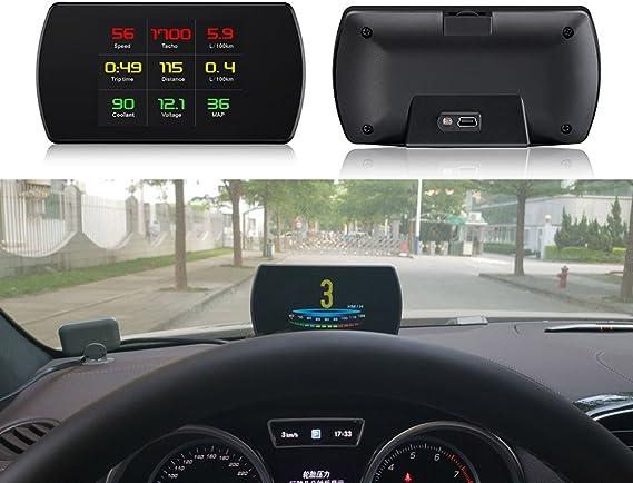 Coomir P12 OBD2 escáner de Coche HUD Pantalla Velocidad proyector ...