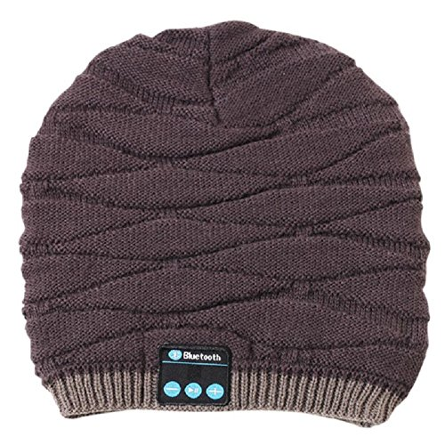 Luxsea Beanie Hat with Wireless Bluetooth Headphone Stereo Speakers & Micro for Cell Phones,iPhone,iPad,Tablets