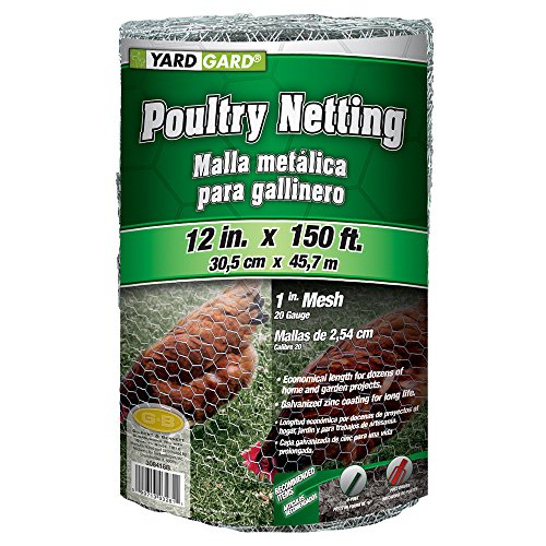 YARDGARD 308418B 1 Foot X 150 foot 1 Inch Mesh Poultry Netting (Chicken Wire 1)