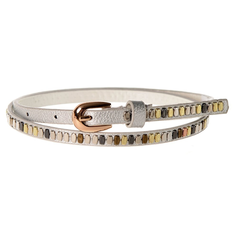 Sunny Belt Girls Faux Leather Shiny /& Skinny Peach Jean Belt