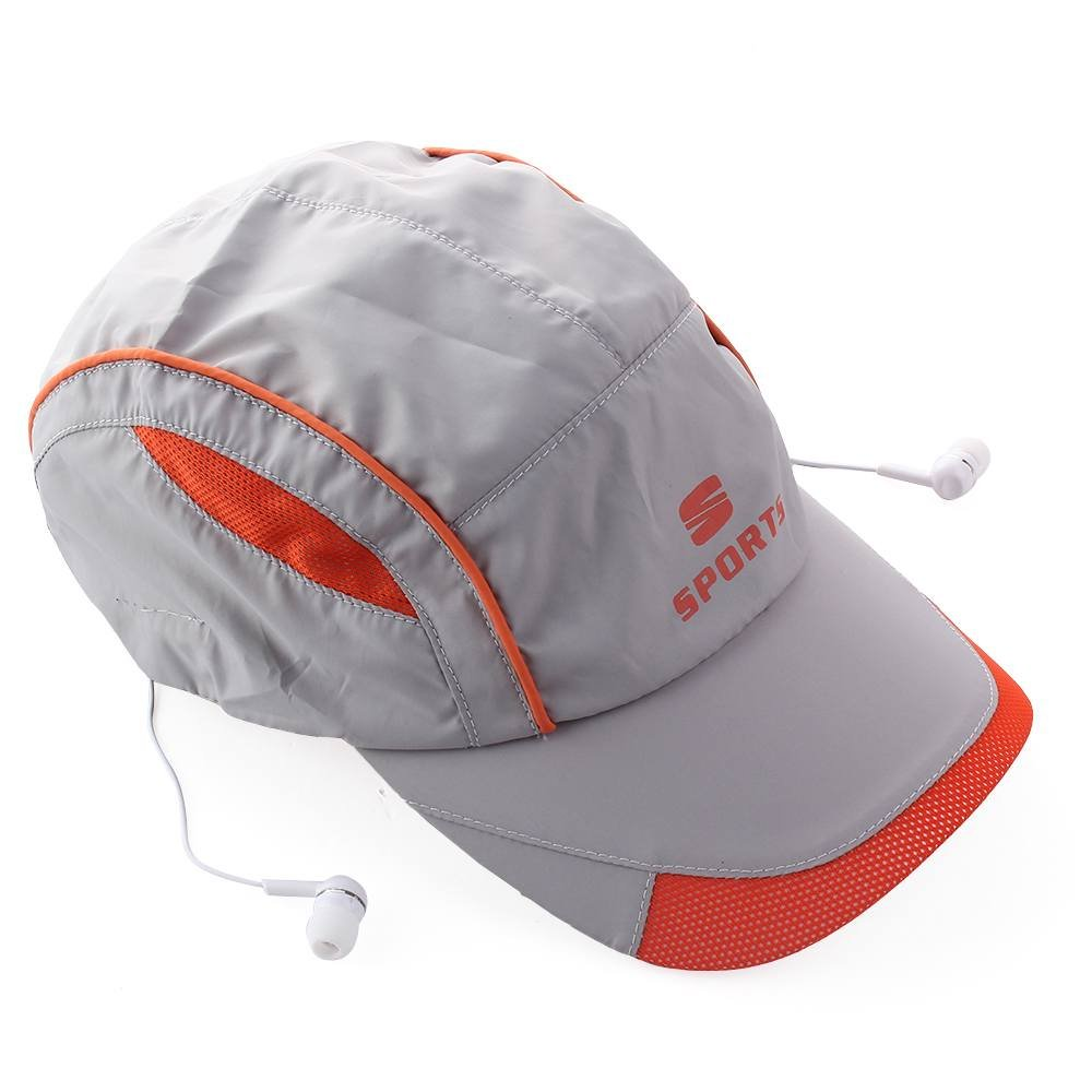 Elisona-Wireless Bluetooth 3.0 Hands-free Headphone Headset Phone Call Answer Music Summer Sports Baseball Cap Hat Grey