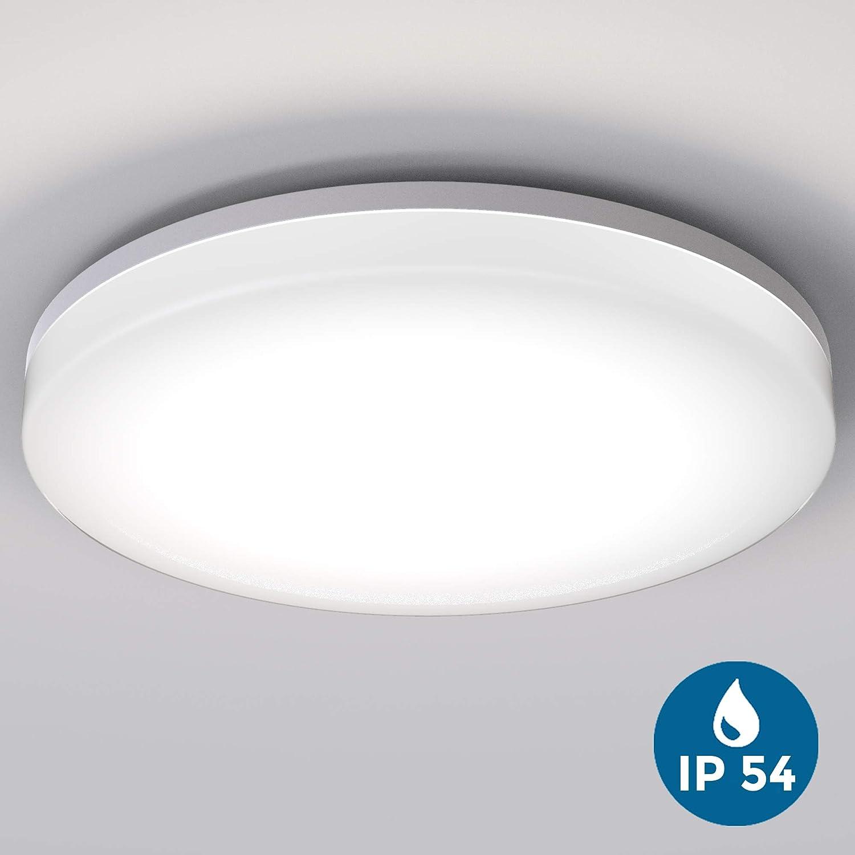 LED Deckenleuchte, wasserfest, IP54 inkl. 24W 2800lm LED Platine, 4000K neutral weiss, Badezimmer und Balkon geeignet