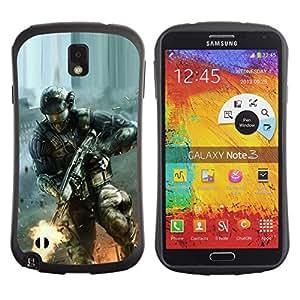 Pulsar iFace Series Tpu silicona Carcasa Funda Case para SAMSUNG Galaxy Note 3 III / N9000 / N9005 , Soldier Game