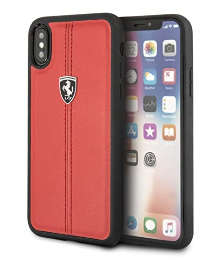 hot sale online b2eae c904a Ferrari Heritage Back Case Apple iPhone X - Red