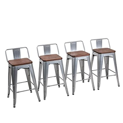Amazoncom Yongchuang Metal Backless Counter Bar Stool For Indoor