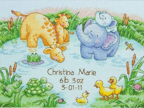 Dimensions Needlecrafts Counted Cross Stitch, Little Pond Birth Record -  70-73697