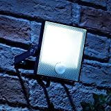 Auraglow 10W LED Motion Activated PIR Sensor Security Floodlight Outdoor Slim Profile Wall Light - 150w EQV