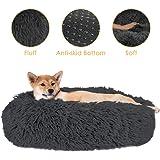 SlowTon Pet Calming Bed, Donut Cuddler Nest Warm Soft Plush Dog Cat Cushion with Cozy Sponge Non-Slip Bottom for Small…