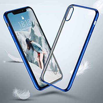 huge discount 6cfc2 c98df Tuscom Ultra Slim Shockproof Silicone Full-Body Rugged Crystal Clear Case  Cover for iPhone XS Max...