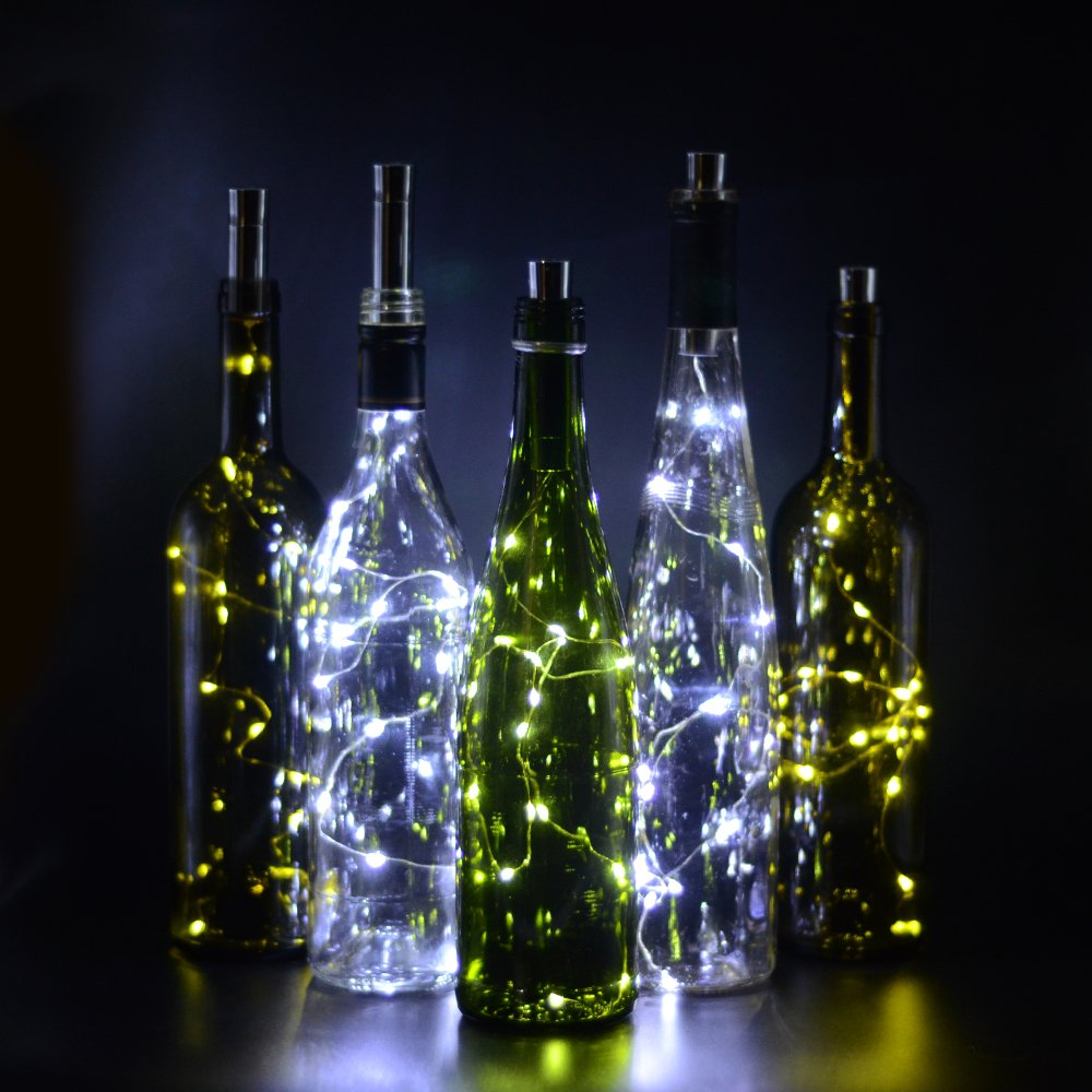 10 20 Lot 15leds Bottle Cork Lights Wine Copper Wire