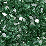 Margo Garden Products 1/2 in. 25 lb. Medium Green Reflective Tempered Fire Glass