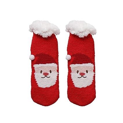 LFY Calcetines Casuales de Vacaciones navideñas para Mujer - Calcetines Coloridos y Divertidos para Regalos Originales