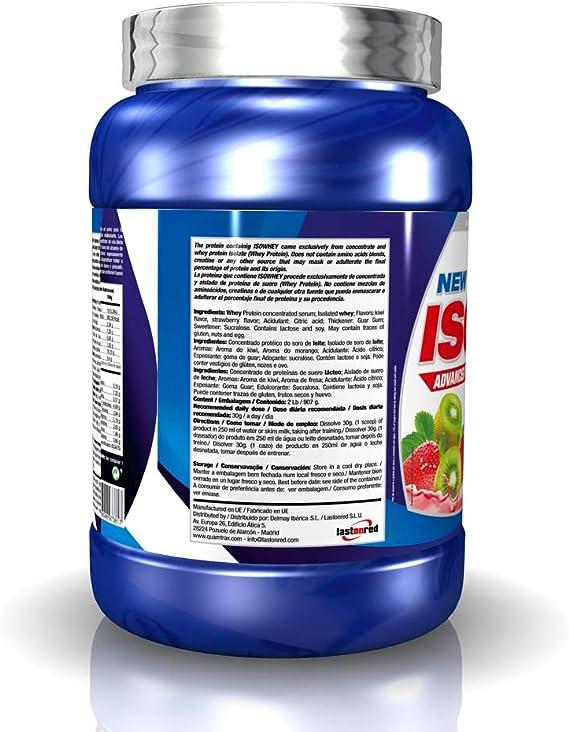 Quamtrax Proteina Iso whey sabor fresa y kiwi -907 gr 30 servicios
