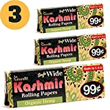 99 cent free shipping - Kashmir 100% Organic Hemp Single Wide Rolling Papers-Made in the USA (3)