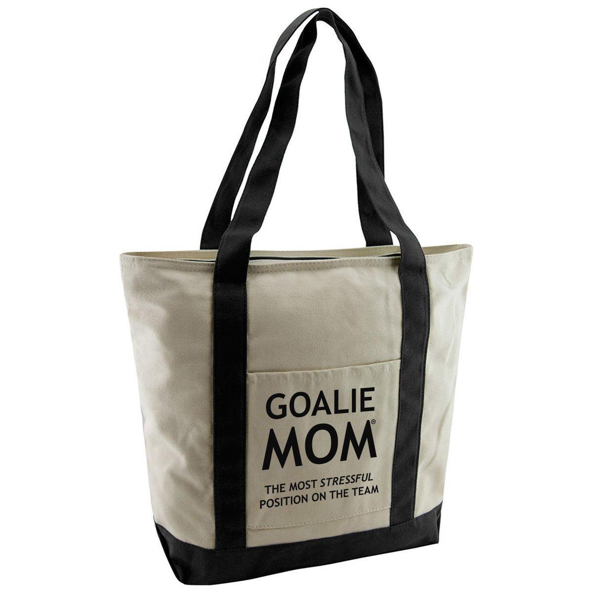 Goalie Mom Cotton Canvas Tote Bag