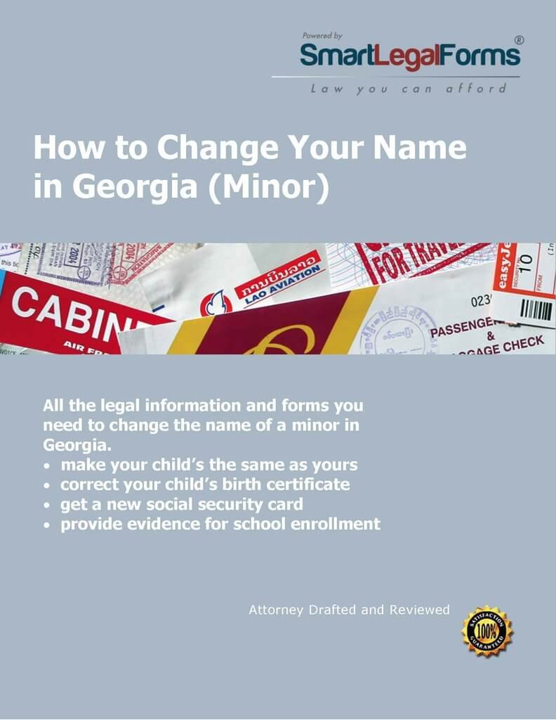 GA Minor Name Change [Instant Access] by SmartLegalForms, Inc.