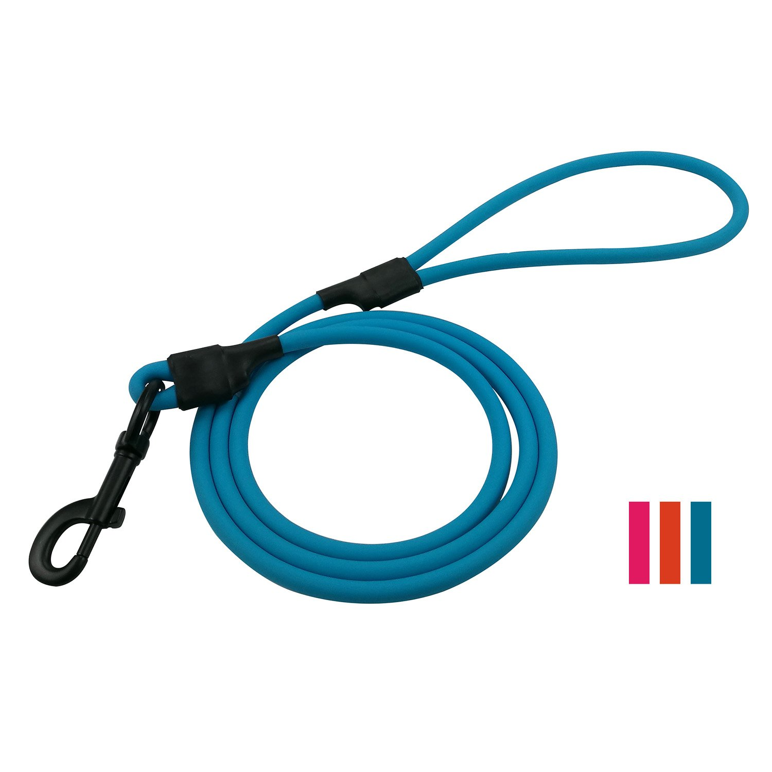 bluee 5 feet bluee 5 feet SACRONS-Waterproof Dog Leash PVE Contains High Strength Nylon Materials Wear-Resistant and Dirty Easy to Clean Excellent for Outdoors & Dog Training(Small, Medium, Large Dogs)