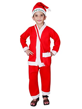 Christmas Santa Claus Fancy Dress Costume for Xmas Party for Boy Girl Kids  Child (1,2 Years)