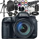 Canon EOS 7D Mark II DSLR Camera and 18-135mm f/3.5-5.6 STM Lens 19PC Accessory Bundle - International Version (No Warranty)