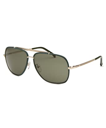 7b59bbf059a Lacoste L153S 714 Gold and Green 153 Square Aviator Sunglasses Lens  Category 3  Amazon.co.uk  Clothing