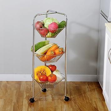 Amazon De Shelf Lyg Kuchenwagen Obst Und Gemuseampel Mit