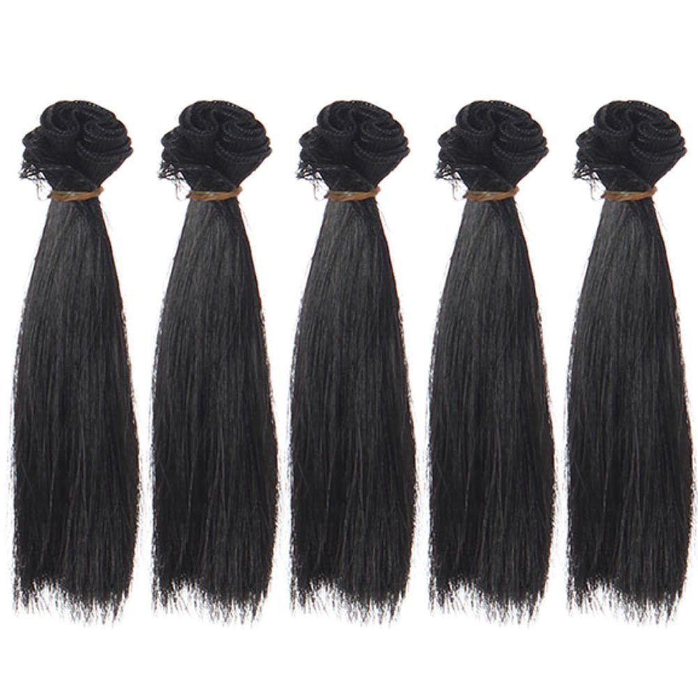 5pcs/lot,25x100cm Straight Purely White Synthetic Doll Hair Wefts for Handcraft BJD Blythe Pullip Doll's Wig Sinessbuying