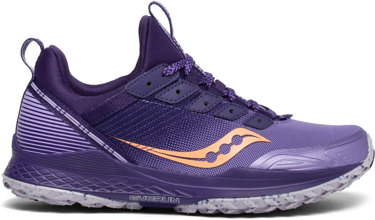 Saucony Women's MAD River TR Road Running Shoe, Purple/Peach, 7 M US by Saucony