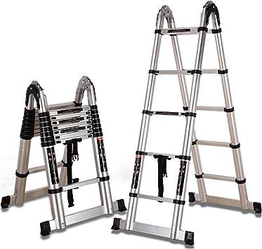 Extensibles Escalera telescópica multiusos de aluminio portátil DIY extensible escalera extensión EN131 para trabajos de interior al aire libre (Size : 1.9m+1.9m=straight 3.8m): Amazon.es: Bricolaje y herramientas