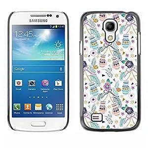 TopCaseStore / la caja del caucho duro de la cubierta de protección de la piel - Xmas Holidays Teal - Samsung Galaxy S4 Mini i9190 MINI VERSION!