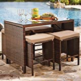 Brylanehome Southport Counter Table/Bar (Brown,0)