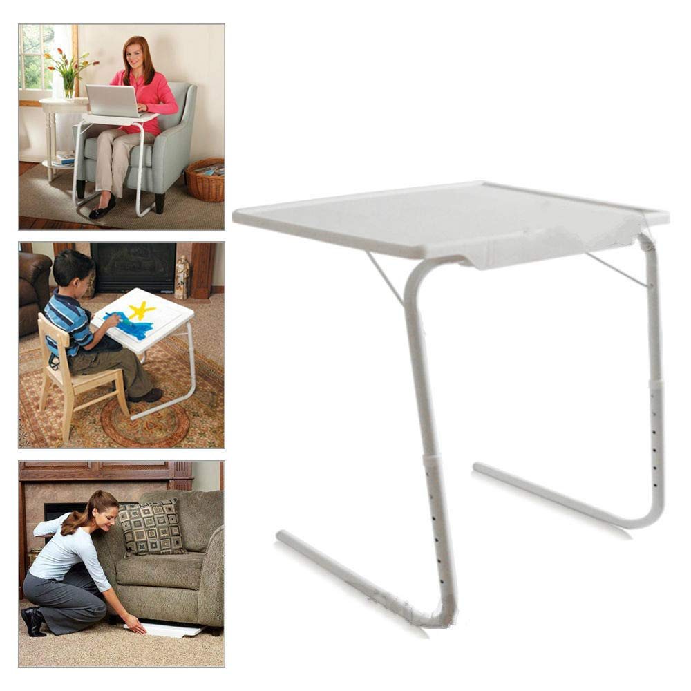 Wegi King Folding Table Coffee Table Sofa Side Table Tv Tray Snack Table Assembled Bed Table Folding Laptop Table Portable Breakfast Tray Desk for Home Bedroom Dorm Room