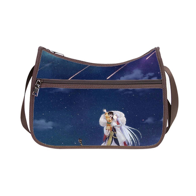 Angelinana Custom Inuyasha Anime Messenger Bag Shoulder Bag Casual Bags
