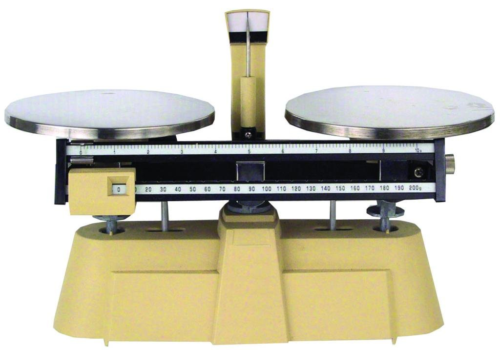 Walter Products B-400-W-O Economy Double Pan Balance with Weight Set, 2000 g Capacity