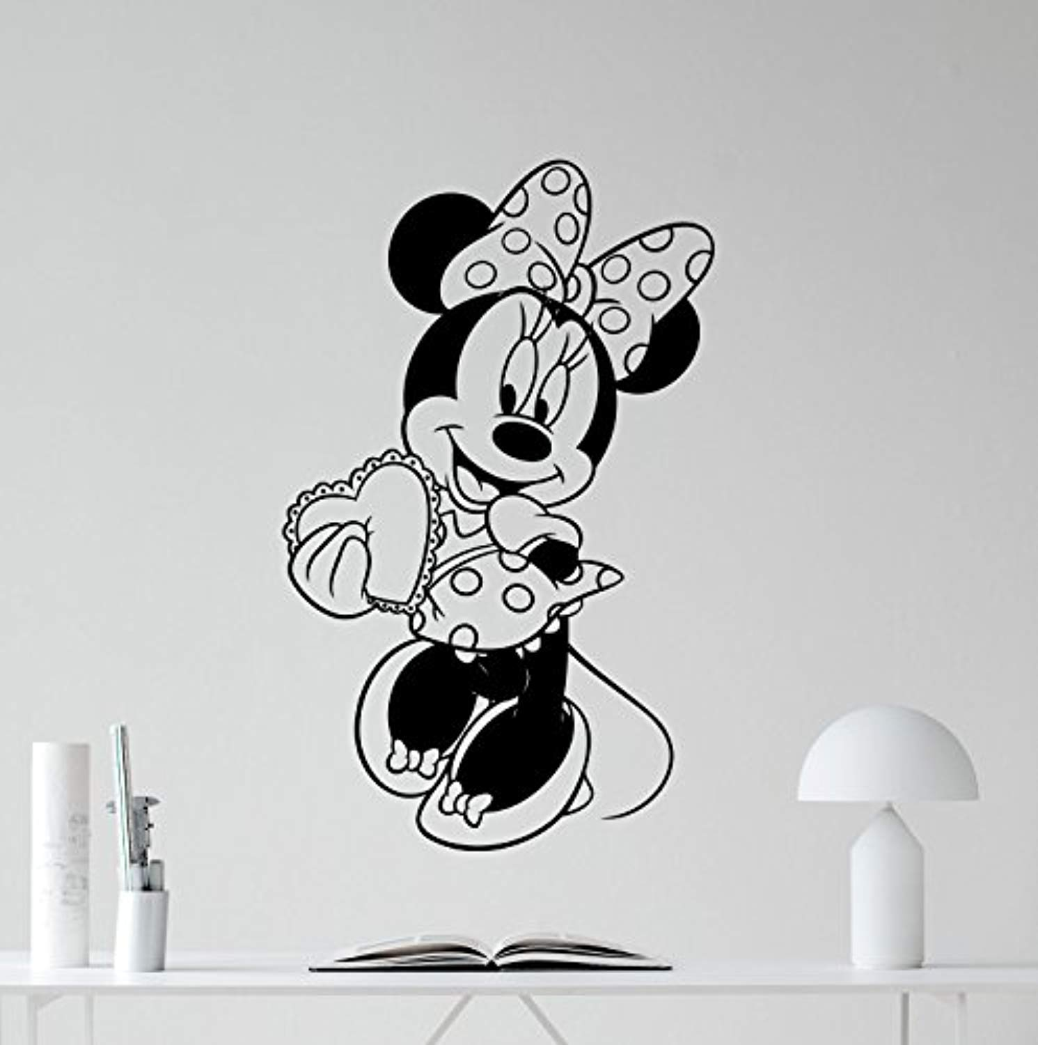 Amazon com minnie mouse vinyl wall decal girl kids cute