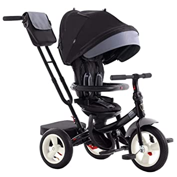 TRICYCLE Triciclo 4 en 1 Asiento Giratorio Respaldo reclinable ...