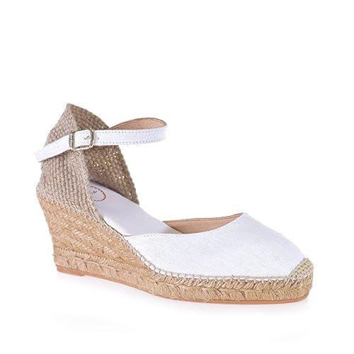 CALDES - Alpargata Vegana para Mujer de TONI PONS Hecha en Lino.: Amazon.es: Zapatos y complementos